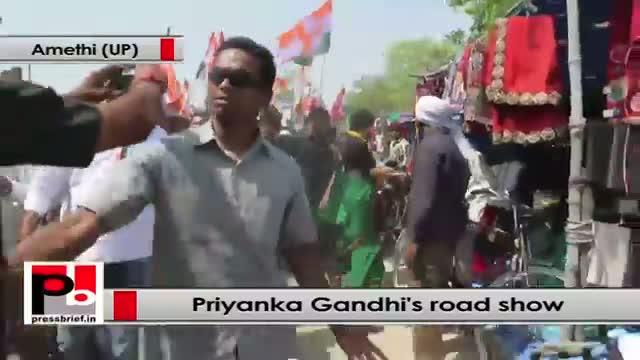 Priyanka Gandhi strikes chord with people of Amethi