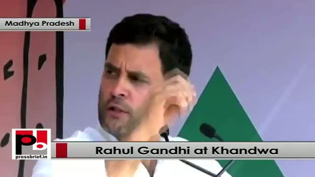 Rahul Gandhi : We want you to grow and empowered