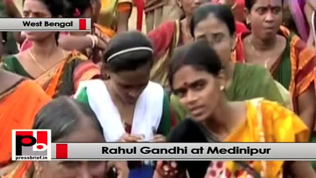Rahul Gandhi addresses Congress rally in Medinipur (West Bengal)