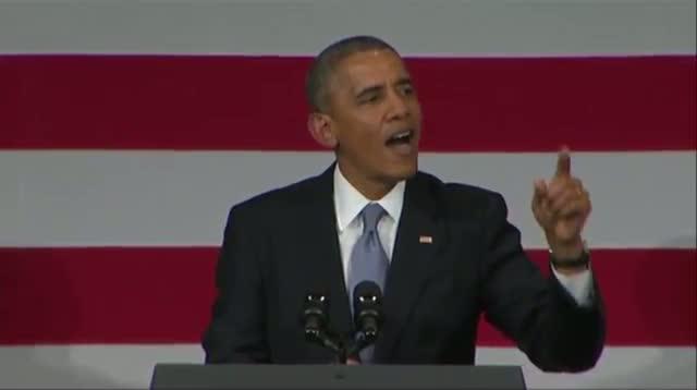 Obama to Heckler, 'I Love You Back!'