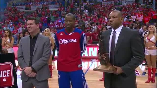 NBA: Jamal Crawford Receives the 6th Man of the Year Award (Basketball Video)