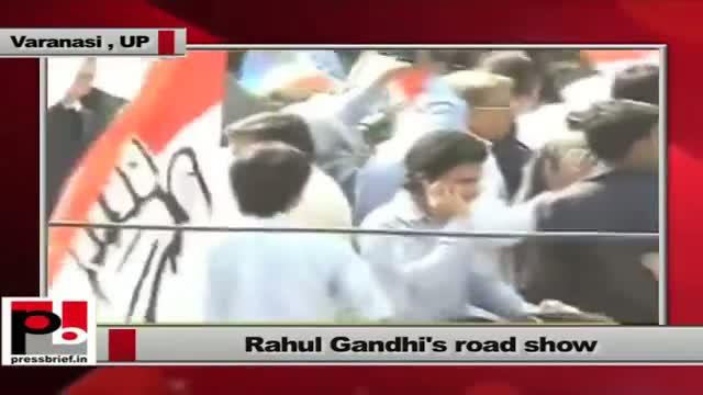 Rahul Gandhi's impressive road show in Varanasi