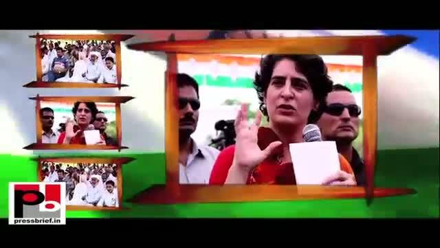 "Priyanka Gandhi - ""Rahul Gandhi only works for your welfare"""