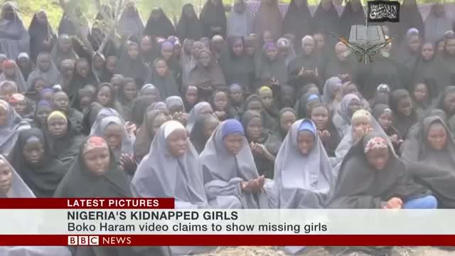 Nigeria girls 'shown' in Boko Haram video
