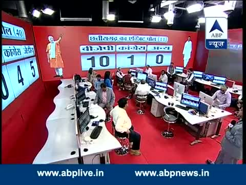 CHHATTISGARH EXIT POLL: BJP - 10, CONGRESS 1, OTHERS - 0 .