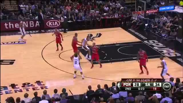 San Antonio Spurs vs Portland Trail Blazers Game 5 Highlights - NBA Playoffs 2014