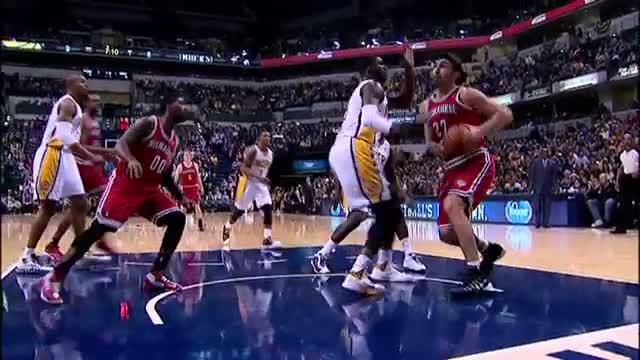 NBA: Inside Stuff: Roy Hibbert's Unique Court Vision (Basketball Video)