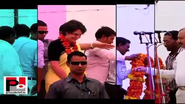 Priyanka Gandhi Vadra interacts with people