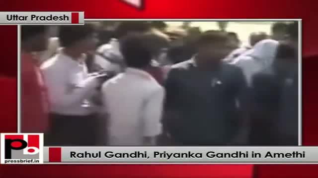 Rahul Gandhi along with Priyanka Gandhi visit Amethi after LS polls