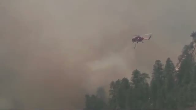 Crews Work to Keep Wildfire From Flagstaff Area