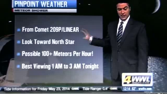 Never Before Seen Meteor Shower Set To Appear Tonight - Camelopardalid Meteor Shower
