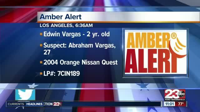 Amber Alert issued in LA County for 2004 orange Nissan