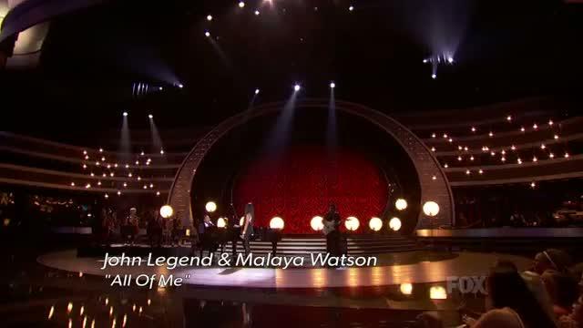 AMERICAN IDOL Finale - John Legend & Malaya Watson - AMERICAN IDOL SEASON XIII