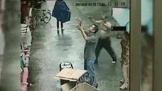 Man Catches Baby Falling From Second Story Window in China 2014 Falling Toddler Caught by Passerby