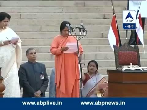 Uma Bharti takes oath as a Minister