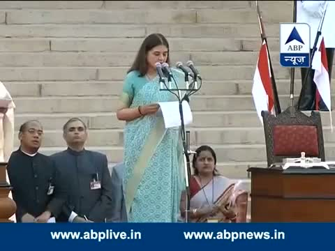 Maneka Gandhi takes oath as a Minister