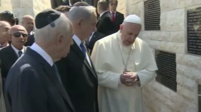 Raw: Pope Francis Prays at Terror Memorial