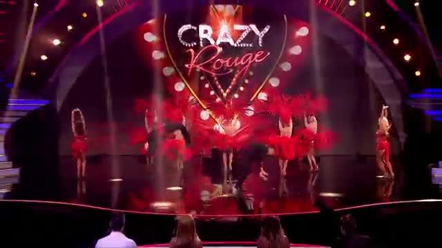 Burlesque act Crazy Rouge put on a glitzy show - Britain's Got Talent 2014