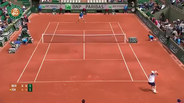 T. Berdych v. J. Isner 2014 French Open Men's R4 Highlights