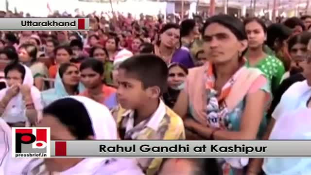 Rahul Gandhi takes on Modi at an election rally at Kashipur, Uttarakhand