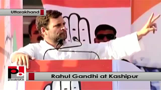 Rahul Gandhi at Kashipur, Uttarakhand, takes on BJP, lists out UPA welfare policies