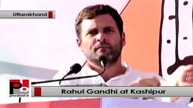 Rahul Gandhi at Kashipur, Uttarakhand, attacks BJP, highlights UPA schemes
