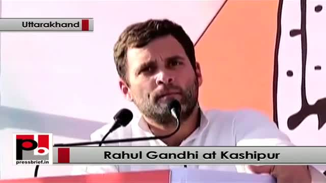 Aggressive Rahul Gandhi speaks at Kashipur in Uttarakhand, highlights UPA policies