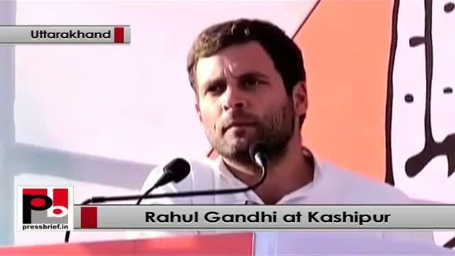 Support Congress, Rahul Gandhi urges people at Kashipur, Uttarakhand