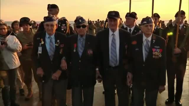 US D-Day Veterans Gather at Omaha Beach