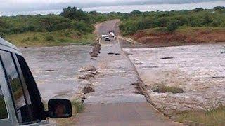 Kruger National Park Floods 2014 - H10 Lower Sabie Bridge - 5th March