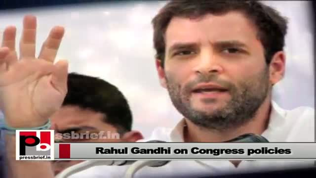 Rahul Gandhi works with a clear forward looking vision and progressive agenda