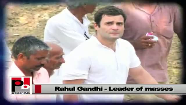 Rahul Gandhi -- a real mass leader who always interfered in people's issues
