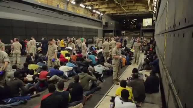 Raw: US Navy Completes Rescue in Mediterranean