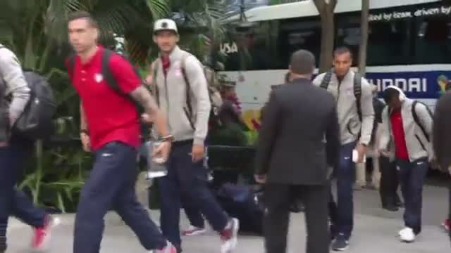 US World Cup Team Arrives in Brazil