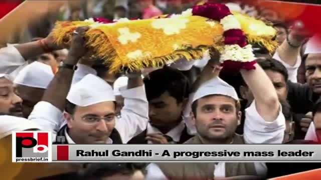 Rahul Gandhi a leader with a forward looking vision and innovative mission