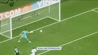 Goal-Line Technology in use - France vs Honduras 2-0 - FIFA World Cup 2014