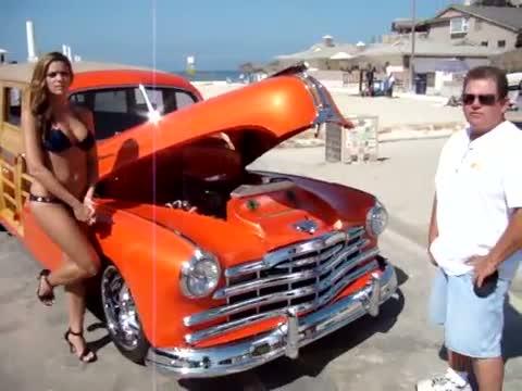 1948 Pontiac Silver Streak Woody Moonlight State Beach Encinitas