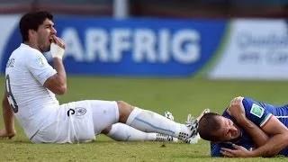 Luis Suarez BITES Giorgio Chiellini - Italy 0-1 Uruguay - FIFA World Cup 2014 - Suarez Bites Chiellini