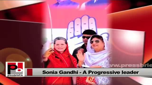 Sonia Gandhi - a leader whose main focus is people's welfare