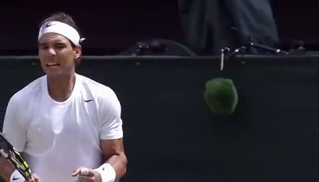 Rafa Nadal in Wimbledon slow motion - Wimbledon 2014
