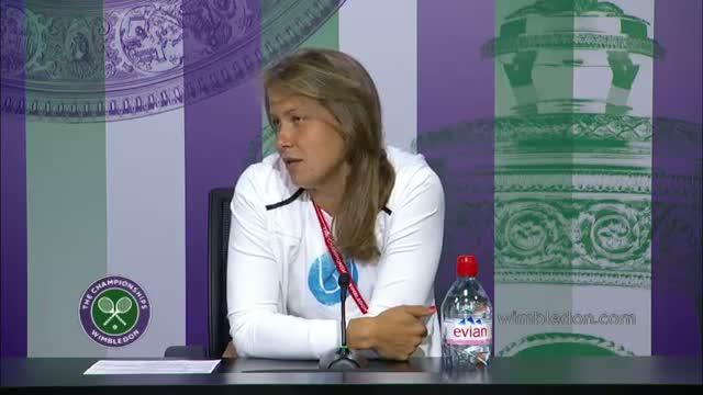 Zahlavova Strycova on her biggest ever win v Li Na - Wimbledon 2014