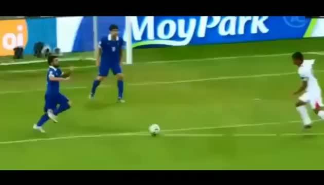 Bryan Ruiz Goal - Costa Rica vs Greece (1-1) - FIFA World Cup 2014
