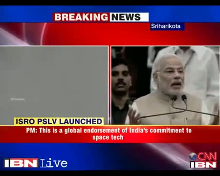 PM Narendra Modi congratulates ISRO for PSLV C-23 launch