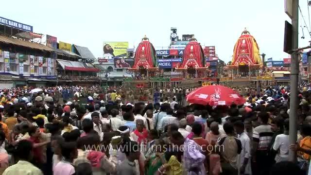 Crowd gather to see 'Rath Yatra' in Puri - Odisha