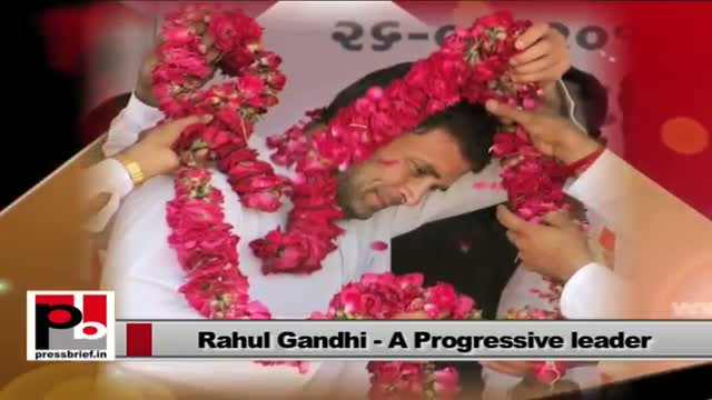 Rahul Gandhi - genuine mass leader with a clear forward looking vision