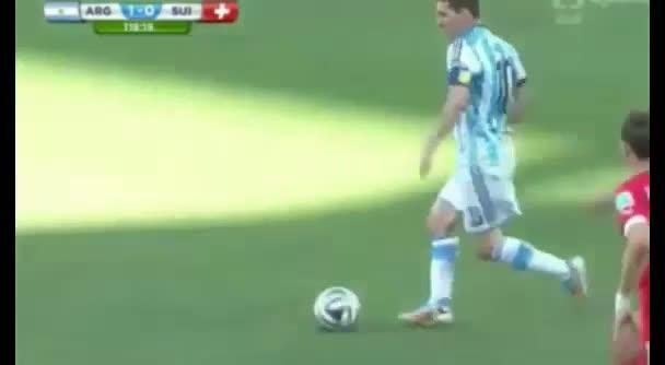 Lionel Messi Goal - Argentina vs Switzerland 2014 (FIFA World Cup 2014)