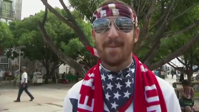 Fans Stick It Out to Watch USA Advance in Brazil