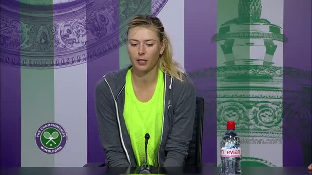 Maria Sharapova 'today didn't go my way' - Wimbledon 2014