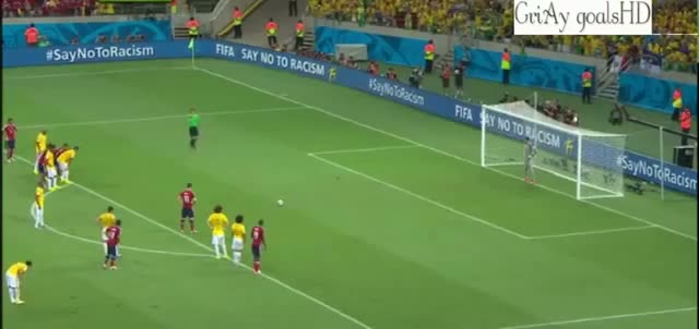 James Rodriguez PENALTY Goal vs Brazil - Brazil vs Colombia 2-1 04/07/2014 HQ - FIFA Wprld Cup 2014 Brazil