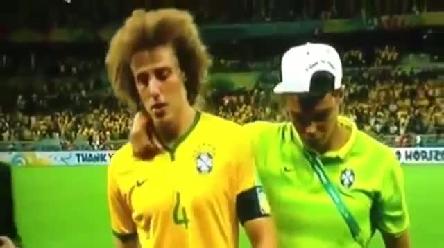 David Luiz Crying/Cry/Cries vs Germany - Brazil vs Germany 1-7 - FIFA World Cup 2014 Brazil